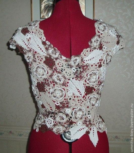 ФОто: Женская вязаная блуза «Ирландское кружево»