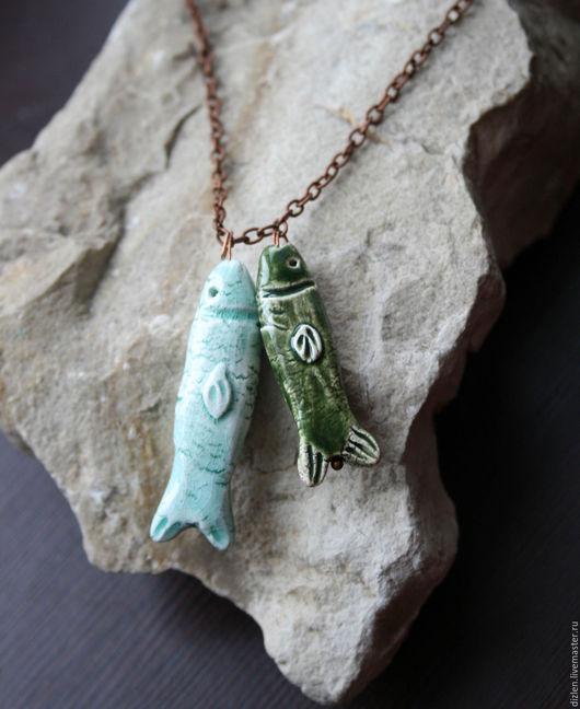 """Кулоны, подвески ручной работы. Ярмарка Мастеров - ручная работа. Купить Подвеска """"Дочь рыбака"""". Handmade. Рыба, зеленый"""