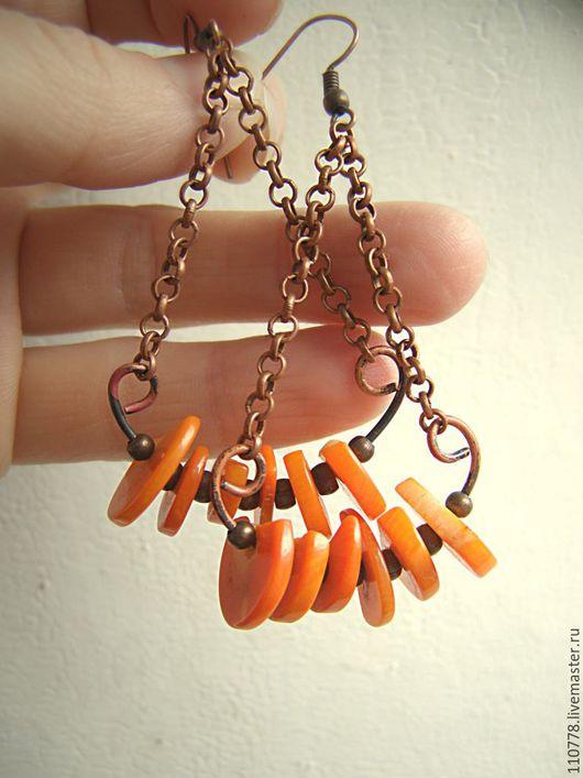 """Серьги ручной работы. Ярмарка Мастеров - ручная работа. Купить Серьги """"Витаминки"""". Handmade. Оранжевый, яркие серьги, лето, серьги"""