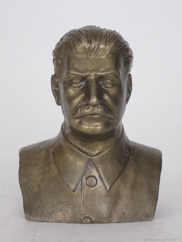 Brass bust of Stalin I. V, Model, Yaroslavl,  Фото №1