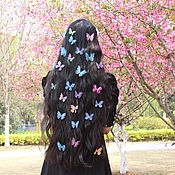 Материалы для творчества handmade. Livemaster - original item Air butterfly organza as real.. Handmade.