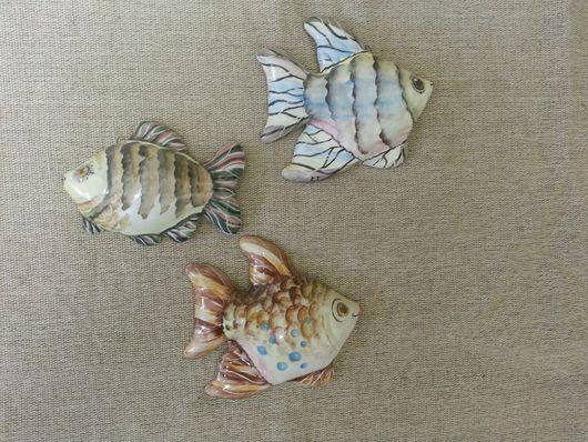 Магниты ручной работы. Ярмарка Мастеров - ручная работа. Купить Рыбки магниты. Handmade. Магнит, коллекционные игрушки, майолика