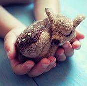 Куклы и игрушки ручной работы. Ярмарка Мастеров - ручная работа Сны Бемби (валяная игрушка, олененок). Handmade.