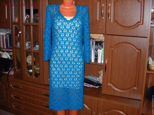 Платья ручной работы. Ярмарка Мастеров - ручная работа. Купить платье крючком морская пучина. Handmade. Морская волна