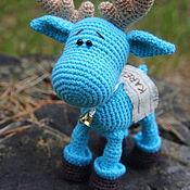 Куклы и игрушки ручной работы. Ярмарка Мастеров - ручная работа ЛОСЬ, вязаная игрушка крючком. Handmade.