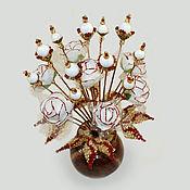 Цветы и флористика handmade. Livemaster - original item Flowers of mother-of-pearl