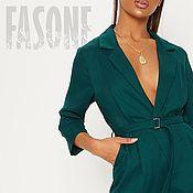 Одежда handmade. Livemaster - original item Women`s jumpsuit emerald Jumpsuit green summer. Handmade.