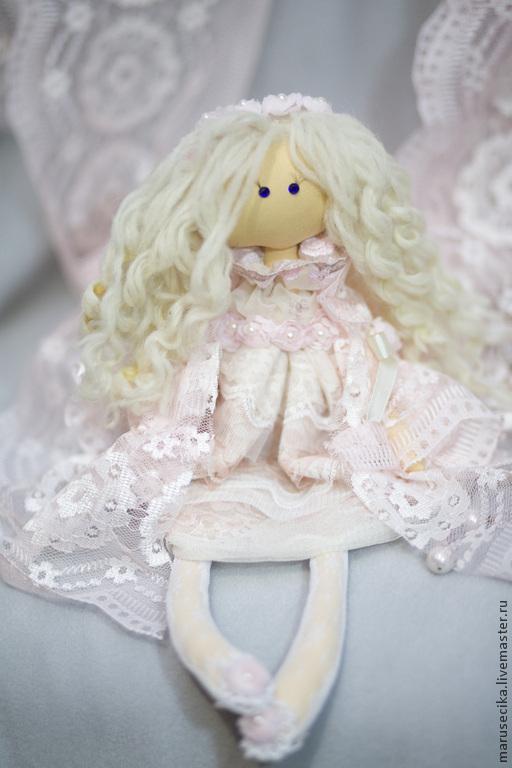 Куклы тыквоголовки ручной работы. Ярмарка Мастеров - ручная работа. Купить Кружева. Handmade. Бледно-розовый, подарок девушке