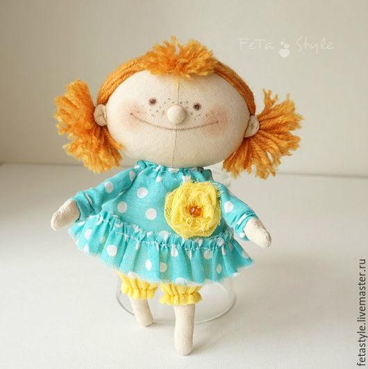 Человечки ручной работы. Ярмарка Мастеров - ручная работа. Купить Рыжая Кукла текстильная маленькая. Handmade. Кукла, авторская кукла
