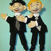 Куклы и игрушки handmade. Livemaster - original item Muzhchinki. The glove puppets.. Handmade.