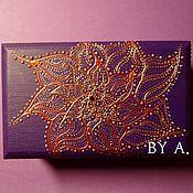 Для дома и интерьера ручной работы. Ярмарка Мастеров - ручная работа Восточная фиолетовая шкатулка для украшений шкатулка для мелочей. Handmade.
