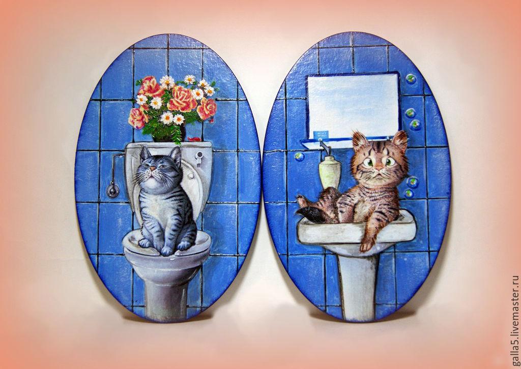 Таблички для ванной и туалета