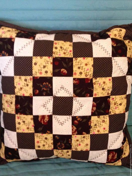 Текстиль, ковры ручной работы. Ярмарка Мастеров - ручная работа. Купить Подушки. Handmade. Разноцветный, лоскутная техника, хлопок американский