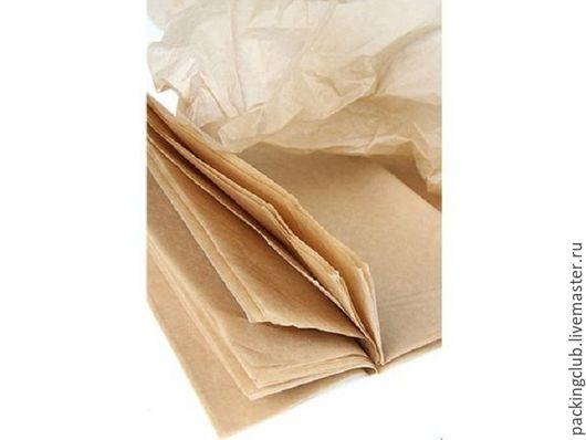 Упаковка ручной работы. Ярмарка Мастеров - ручная работа. Купить Тишью натуральный цвет 76х50см. Handmade. Бежевый, тишью