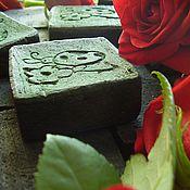"""Косметика ручной работы. Ярмарка Мастеров - ручная работа Мыло шунгитовое """"Жучок на цветке"""". Handmade."""