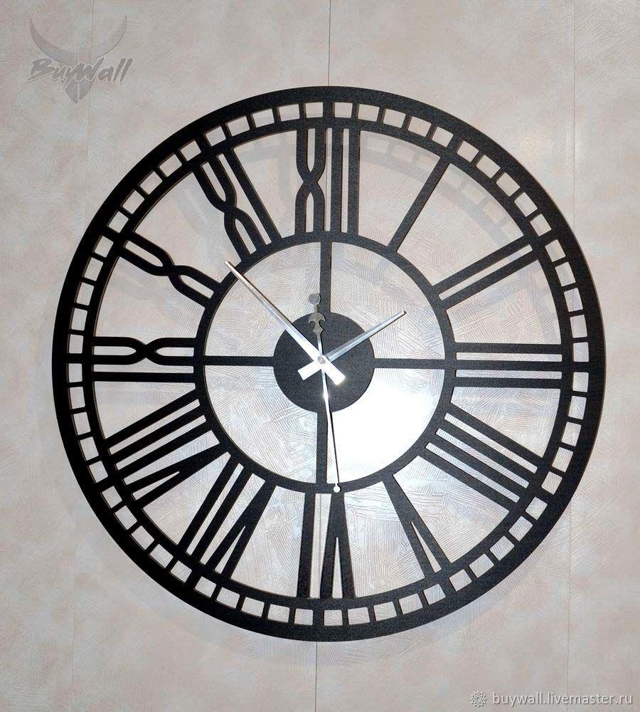 """""""НЕРО"""" - Дизайнерские настенные часы. Диаметр 55см, Часы классические, Москва,  Фото №1"""