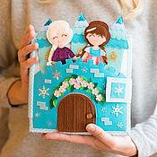 """Кукольные домики ручной работы. Ярмарка Мастеров - ручная работа Книжка кукольный домик """"Холодное сердце"""". Handmade."""