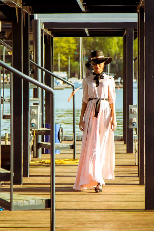 Платья ручной работы. Ярмарка Мастеров - ручная работа. Купить Персиковое платье в пол. Handmade. Бежевый, Платье нарядное