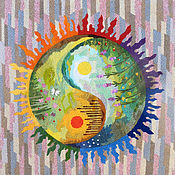 Tapestry handmade. Livemaster - original item Embroidery .Awakening. Handmade.