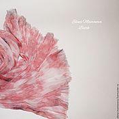 Аксессуары ручной работы. Ярмарка Мастеров - ручная работа Шарф батик Лепестки роз, шелковый шарф батик в бохо стиле. Handmade.