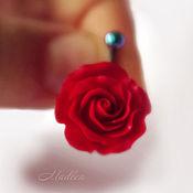 Украшения ручной работы. Ярмарка Мастеров - ручная работа Страсть...роза, украшение для пирсинга, серьга в пупок. Handmade.