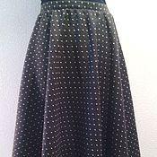 Одежда ручной работы. Ярмарка Мастеров - ручная работа юбка теплая  в горошек. Handmade.