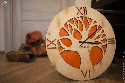 """Часы для дома ручной работы. Ярмарка Мастеров - ручная работа. Купить Настенные часы из дерева """"African tree"""". Handmade."""