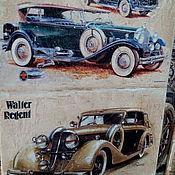Картины и панно ручной работы. Ярмарка Мастеров - ручная работа Панно деревянное 30х40 состаренное Ретро-авто-8. Handmade.