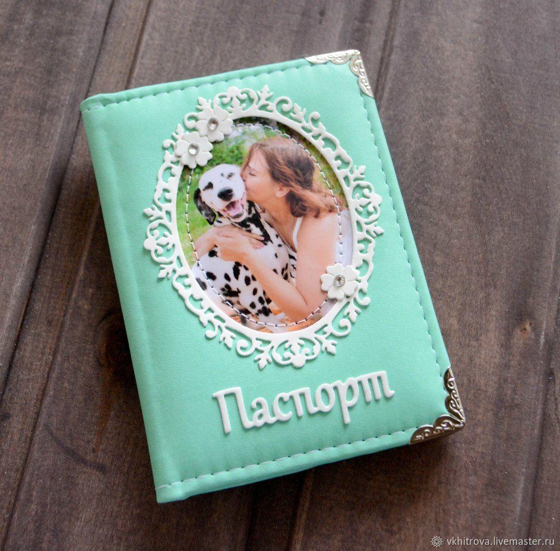 Женская обложка на паспорт с ажурной рамкой, Обложки, Трехгорный, Фото №1