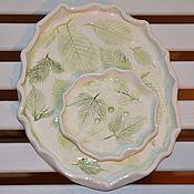 Посуда ручной работы. Ярмарка Мастеров - ручная работа Нежность весны. тарелка+мыльница. Handmade.