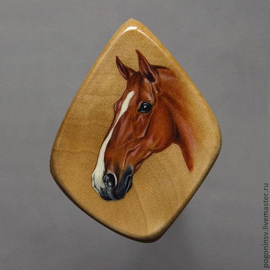 """Кулоны, подвески ручной работы. Ярмарка Мастеров - ручная работа. Купить Кулон """"Лошадь"""". Handmade. Березовый кап, дерево"""