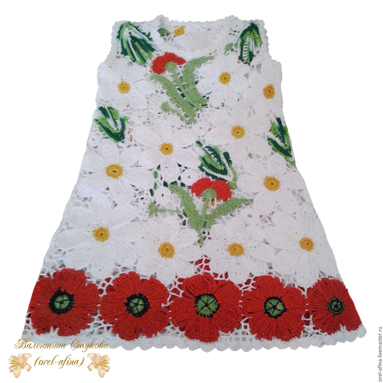 Knitted baby dress Lesnaya Polyana 2 with a scarf and a purse – shop
