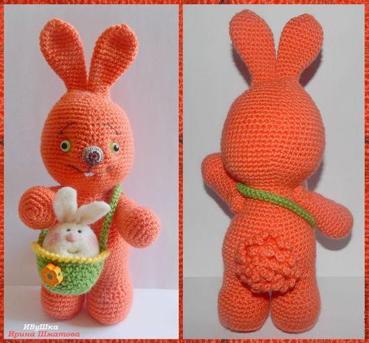 """Подарки на Пасху ручной работы. Ярмарка Мастеров - ручная работа. Купить Заяц вязаный  """"Оранжевое настроение"""". Handmade. Пасха"""