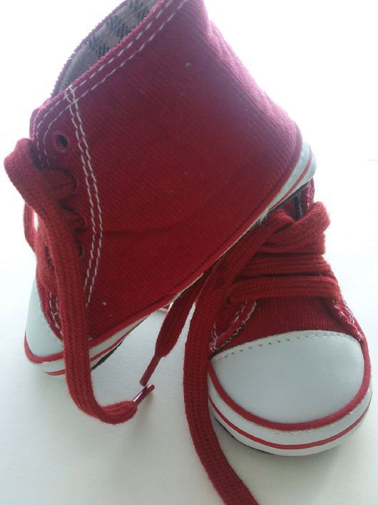 Одежда для кукол ручной работы. Ярмарка Мастеров - ручная работа. Купить Обувь для кукол Кеды красные. Handmade. Обувь