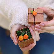 Украшения ручной работы. Ярмарка Мастеров - ручная работа Серьги с морошкой. Handmade.