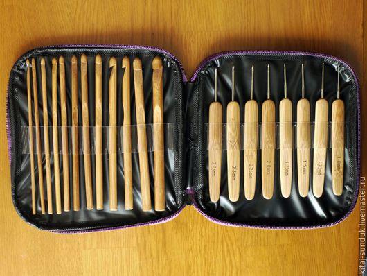 Вязание ручной работы. Ярмарка Мастеров - ручная работа. Купить Набор крючков 1-10 мм в органайзере 20 шт.. Handmade.
