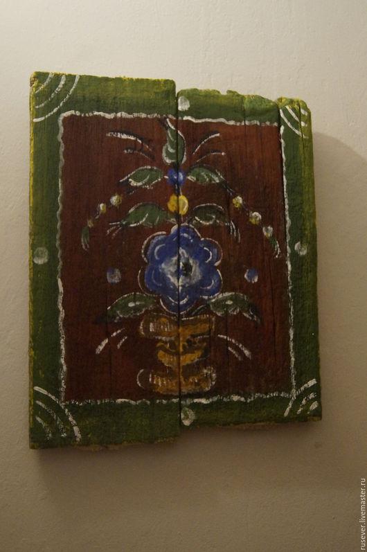 Этно ручной работы. Ярмарка Мастеров - ручная работа. Купить Интерьерная картина на старых досках. Handmade. Комбинированный