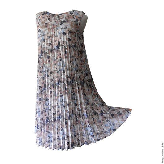 """Платья ручной работы. Ярмарка Мастеров - ручная работа. Купить Платье """"Акварели"""". Handmade. Цветочный, гофре, миди"""