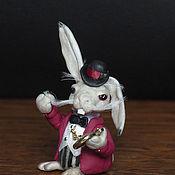 Мини фигурки и статуэтки ручной работы. Ярмарка Мастеров - ручная работа Белый кролик. Handmade.