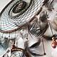 Ловец Снов `Ночной Страж` с перьями совы и селезня.