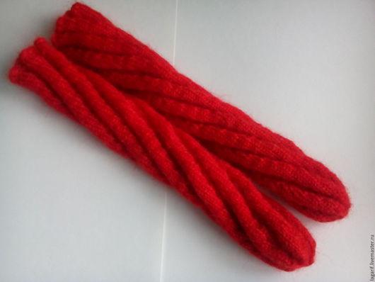 Носки, Чулки ручной работы. Ярмарка Мастеров - ручная работа. Купить Носки тёплые спирально-оригинальные красного цвета. Handmade.