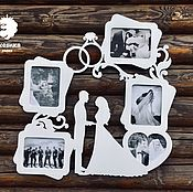 Сувениры и подарки handmade. Livemaster - original item Photo frame with rings. Handmade.
