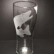 Посуда handmade. Livemaster - original item Beer glass Pike. Handmade.