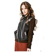Одежда ручной работы. Ярмарка Мастеров - ручная работа Куртка из кожи с рукавами отстегивающемися. Handmade.