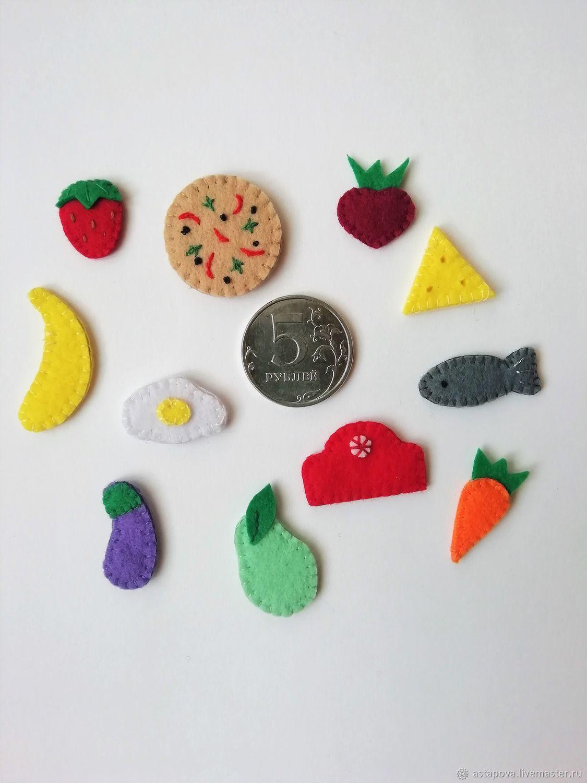 Миниатюрная еда  для кукол из фетра, Кукольная еда, Новомосковск,  Фото №1