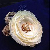 Украшения ручной работы. Ярмарка Мастеров - ручная работа Цветок из шёлка. Handmade.