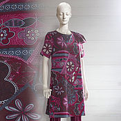 Одежда ручной работы. Ярмарка Мастеров - ручная работа Платье-туника Пёстрое лето. Handmade.