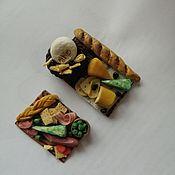 Кукольная еда ручной работы. Ярмарка Мастеров - ручная работа Кукольная еда: Миниатюра для кукол сырные тарелки. Handmade.