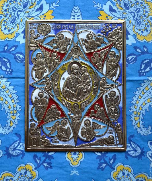 Иконы ручной работы. Ярмарка Мастеров - ручная работа. Купить Литая икона Неопалимая Купина. Handmade. Комбинированный, Литье