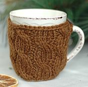 Для дома и интерьера handmade. Livemaster - original item Mug sweater, in case the coffee with cinnamon. Handmade.